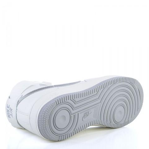 мужские белые, серые  кроссовки nike air force 1 hi retro qs 743546-101 - цена, описание, фото 4