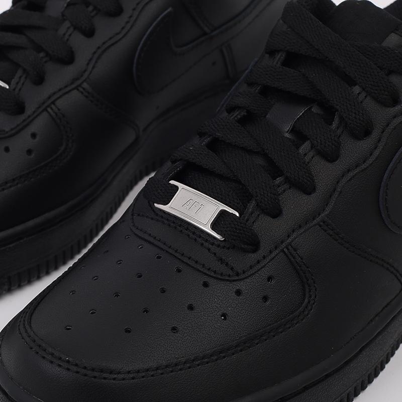 женские черные  кроссовки nike wmns air force 1 `07 315115-038 - цена, описание, фото 7