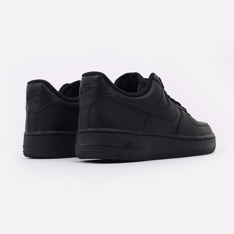 женские черные  кроссовки nike wmns air force 1 `07 315115-038 - цена, описание, фото 4
