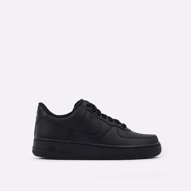 женские черные  кроссовки nike wmns air force 1 `07 315115-038 - цена, описание, фото 1