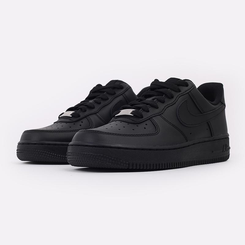 женские черные  кроссовки nike wmns air force 1 `07 315115-038 - цена, описание, фото 3