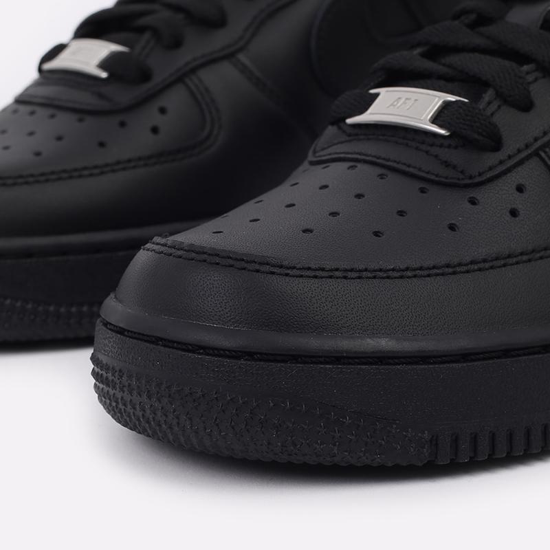 женские черные  кроссовки nike wmns air force 1 `07 315115-038 - цена, описание, фото 5