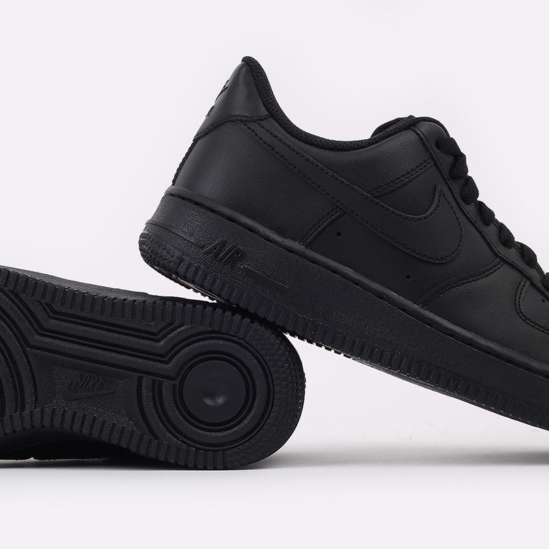 женские черные  кроссовки nike wmns air force 1 `07 315115-038 - цена, описание, фото 6