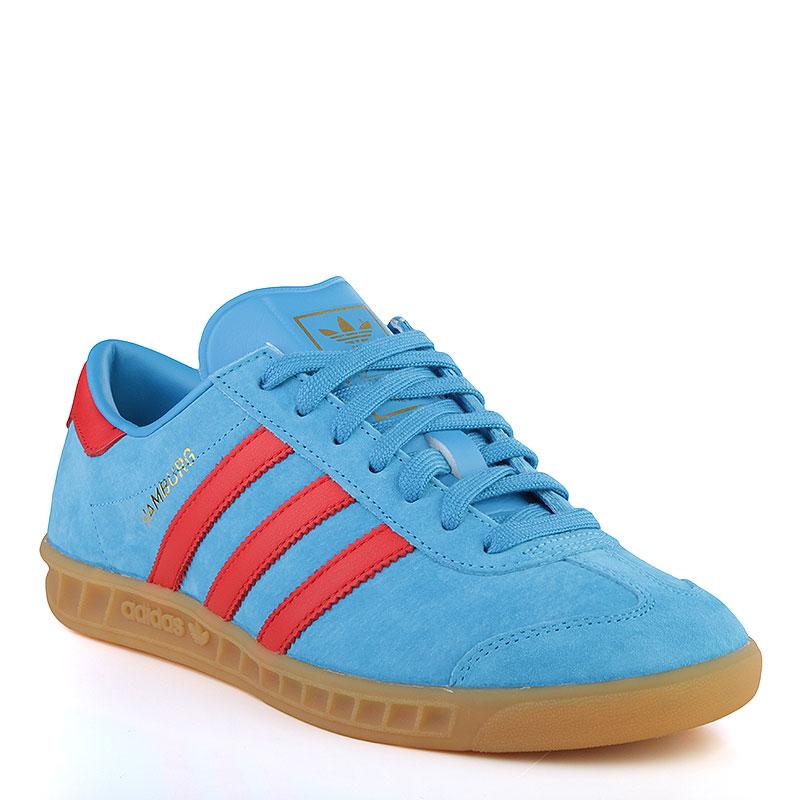 7159b7022fce мужские голубые, красные, коричневые кроссовки adidas hamburg B24967 -  цена, описание, фото