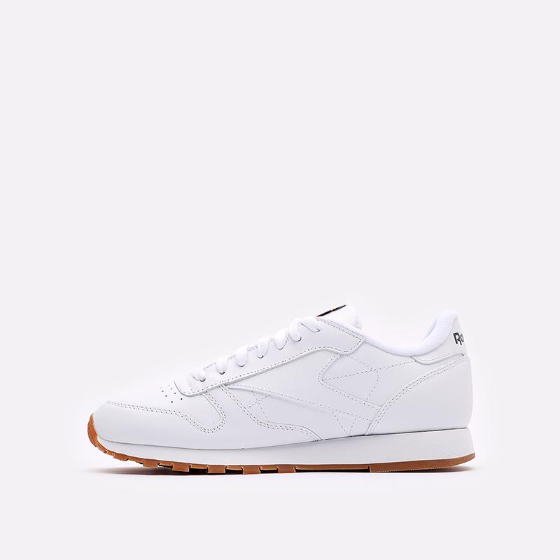 мужские белые  кроссовки reebok classic leather 49799 - цена, описание, фото 2