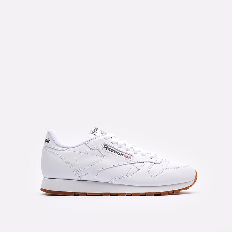 мужские белые  кроссовки reebok classic leather 49799 - цена, описание, фото 1