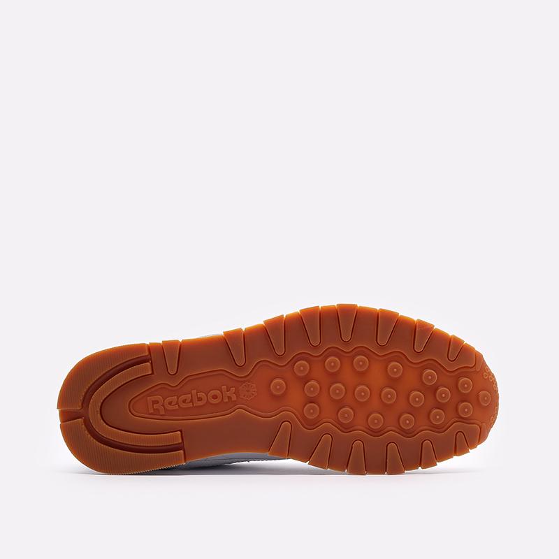 мужские белые  кроссовки reebok classic leather 49799 - цена, описание, фото 5
