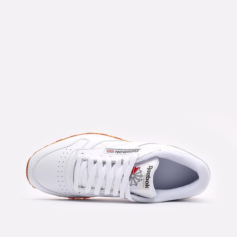 мужские белые  кроссовки reebok classic leather 49799 - цена, описание, фото 6