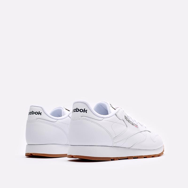 мужские белые  кроссовки reebok classic leather 49799 - цена, описание, фото 3