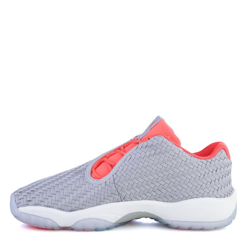 Купить женские серые, коралловые  кроссовки air jordan future low bg в магазинах Streetball изображение - 3 картинки