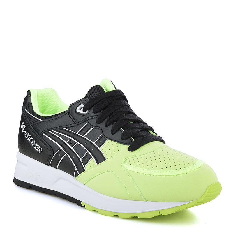 Кроссовки Asics Gel-Lyte SpeedКроссовки lifestyle<br>Кожа, текстиль, резина<br><br>Цвет: Черный, салатовый, белый<br>Размеры US: 8;8.5;9;11.5;12