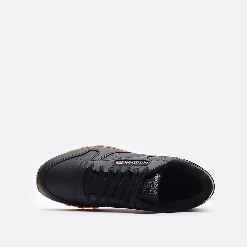 мужские черные  кроссовки reebok classic leather 49800 - цена, описание, фото 6