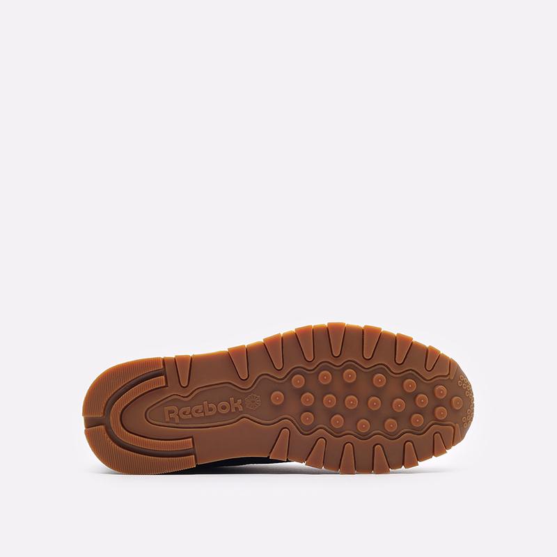 мужские черные  кроссовки reebok classic leather 49800 - цена, описание, фото 5
