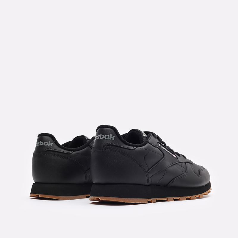 мужские черные  кроссовки reebok classic leather 49800 - цена, описание, фото 3