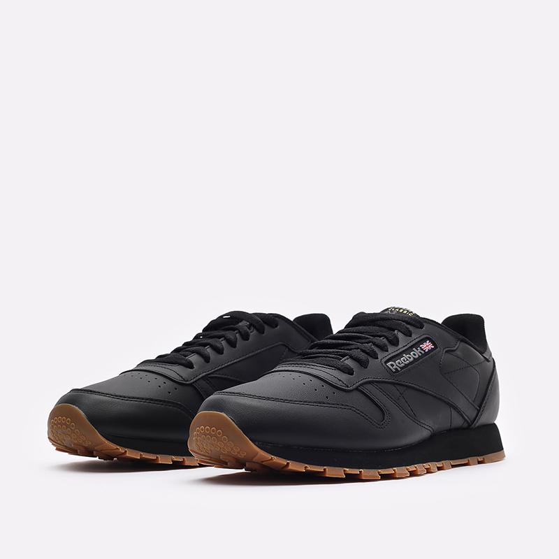 мужские черные  кроссовки reebok classic leather 49800 - цена, описание, фото 4