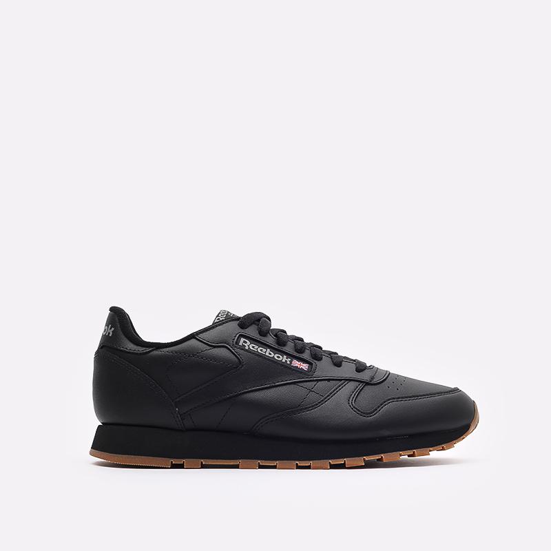 мужские черные  кроссовки reebok classic leather 49800 - цена, описание, фото 1