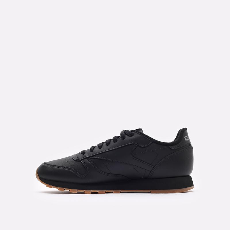 мужские черные  кроссовки reebok classic leather 49800 - цена, описание, фото 2