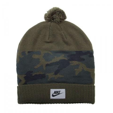 оливковую  шапка nike camo pom 688788-325 - цена, описание, фото 1