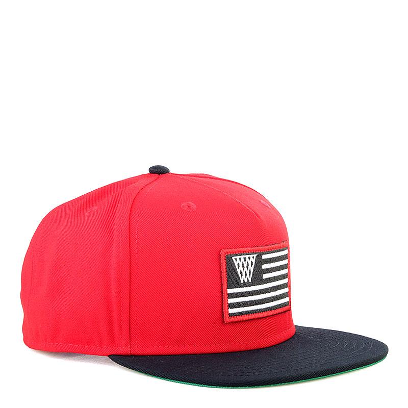 Кепка K1X Noh Flag SnapbackКепки<br>Полиэстер<br><br>Цвет: Черный, красный<br>Размеры US: 1SIZE<br>Пол: Мужской