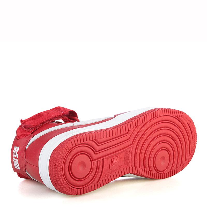 мужские красные, белые  кроссовки nike air force 1 hi retro qs 743546-600 - цена, описание, фото 5