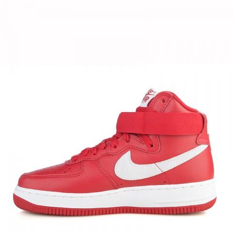 мужские красные, белые  кроссовки nike air force 1 hi retro qs 743546-600 - цена, описание, фото 4