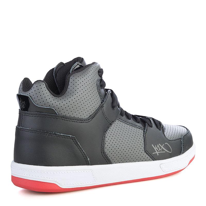 мужские черные, серые, красные  кроссовки k1x lazy high 1000-0236/0826 - цена, описание, фото 2