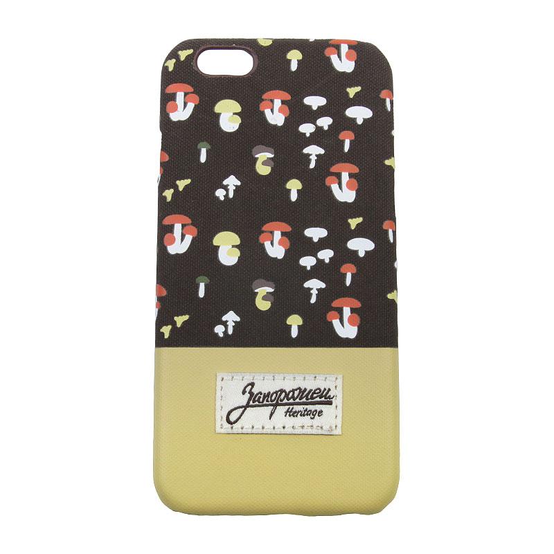 Чехол iPhone 6/6s Запорожец heritage ГрибочкиДругое<br>Пластик, текстиль<br><br>Цвет: Коричневый, жёлтый<br>Размеры : OS