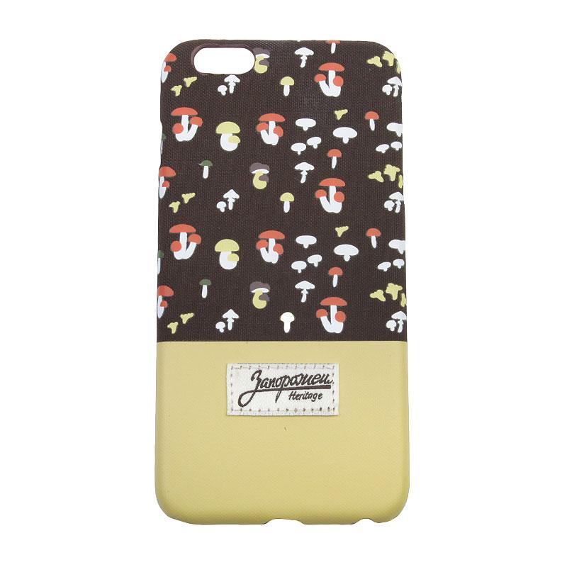 Чехол iPhone 6+ Запорожец heritage ГрибочкиДругое<br>Пластик, текстиль<br><br>Цвет: Коричневый, жёлтый<br>Размеры : OS