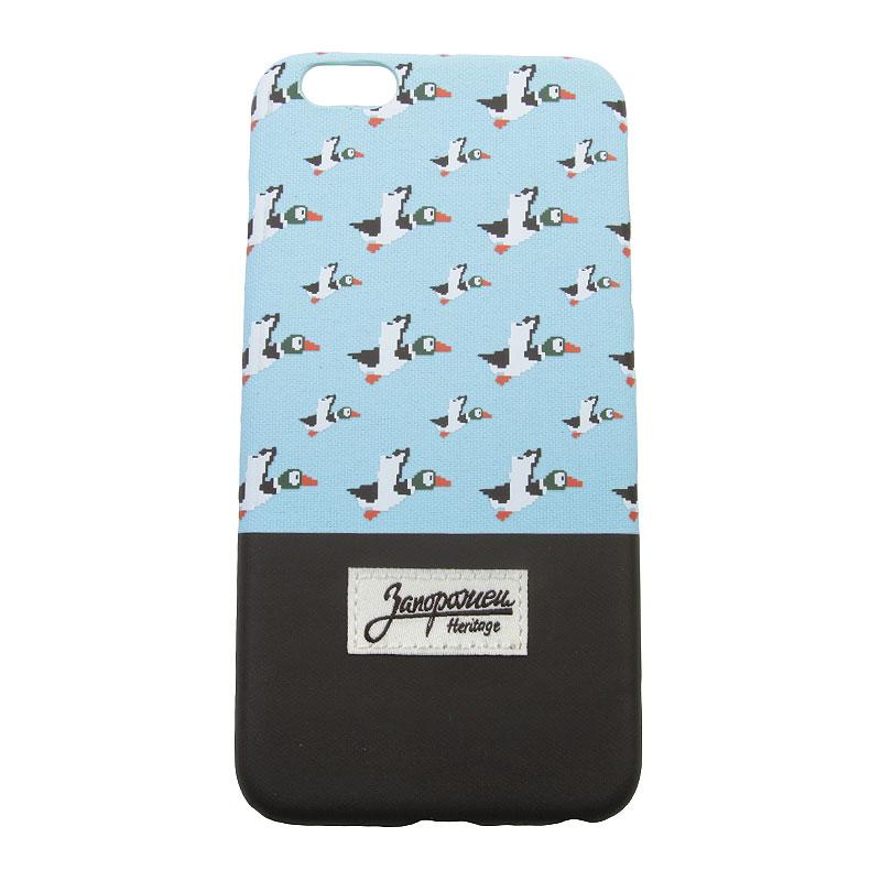Чехол iPhone 6+ Запорожец heritage Дичь 86Другое<br>Пластик, текстиль<br><br>Цвет: Голубой, коричневый<br>Размеры : OS
