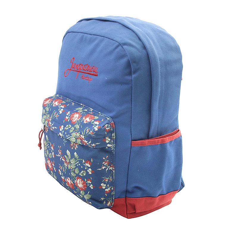 синий  рюкзак запорожец heritage цветочки Цветочки-синий - цена, описание, фото 3