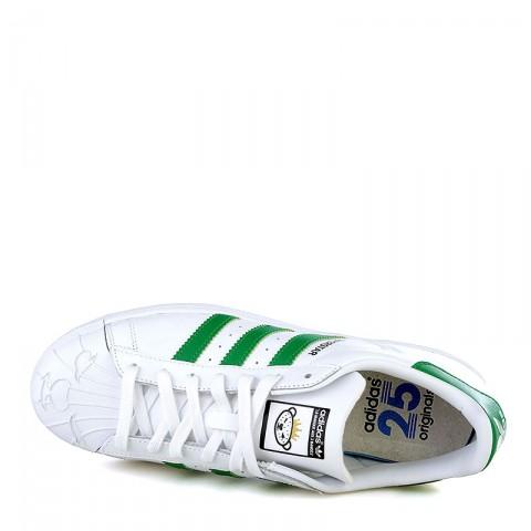 мужские белые, зеленые  кроссовки adidas superstar nigo bearfoot S83385 - цена, описание, фото 5