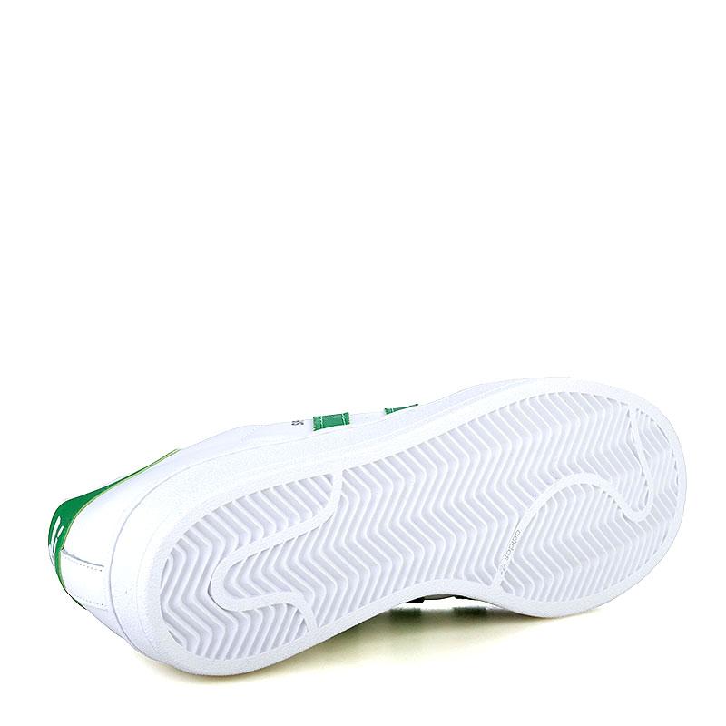 мужские белые, зеленые  кроссовки adidas superstar nigo bearfoot S83385 - цена, описание, фото 4