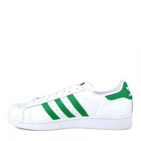 мужские белые, зеленые  кроссовки adidas superstar nigo bearfoot S83385 - цена, описание, фото 3
