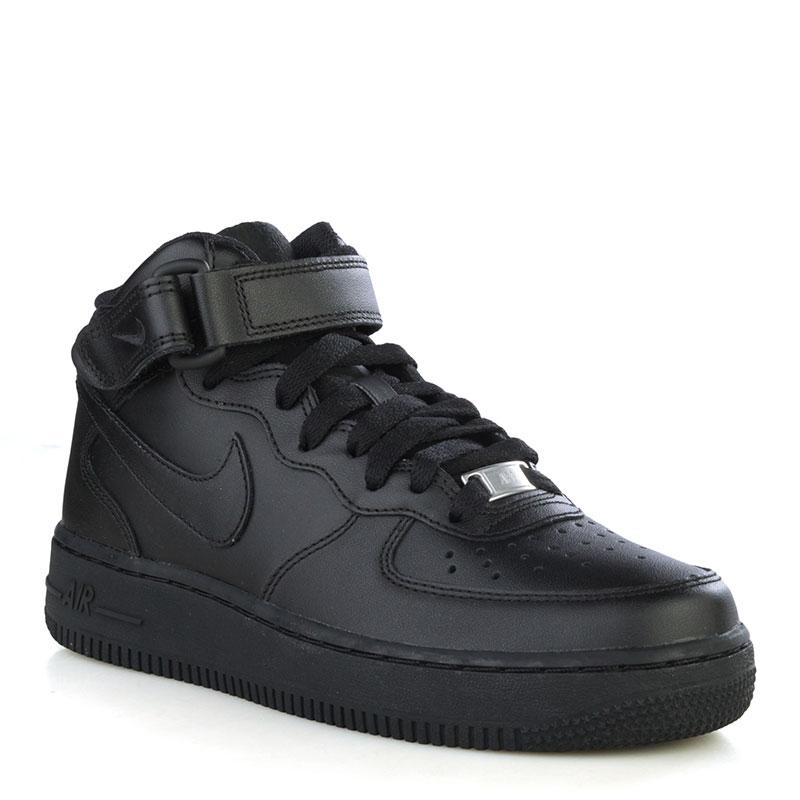 066a8f0d женские черные кроссовки nike wmns air force 1 mid `07 le 366731-001 -