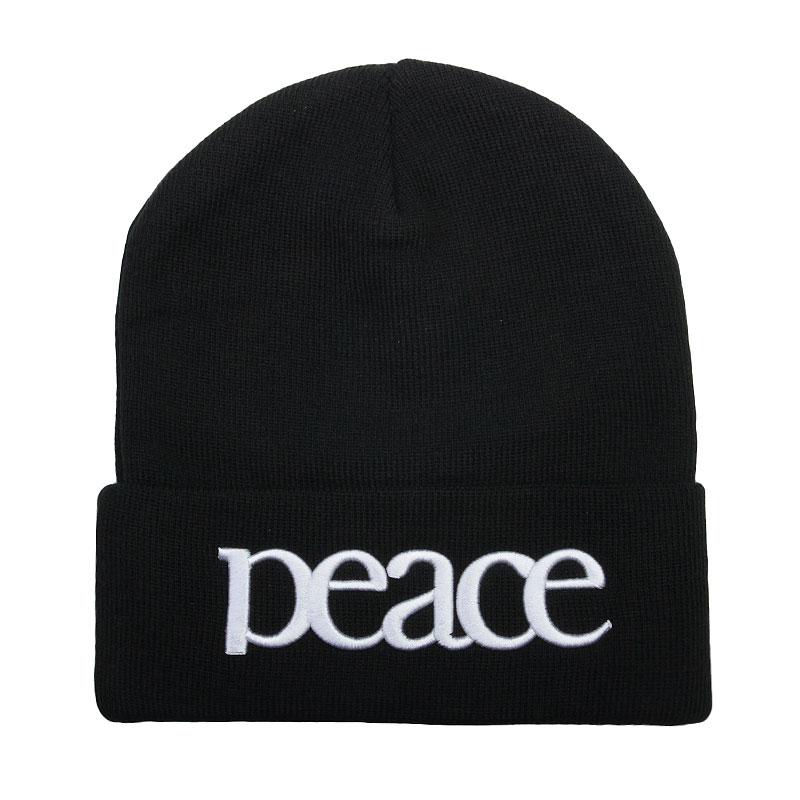 Шапка True spin PeaceШапки<br>Акрил<br><br>Цвет: Черный, белый<br>Размеры : OS