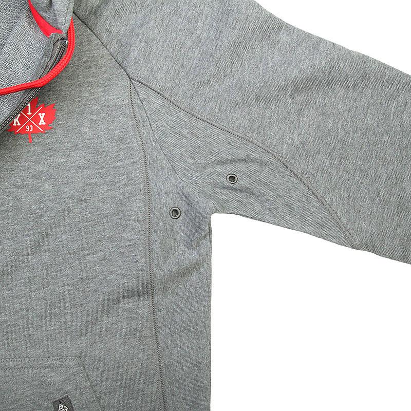 Купить мужскую серую  толстовка k1x core performance zipper hoody в магазинах Streetball изображение - 3 картинки