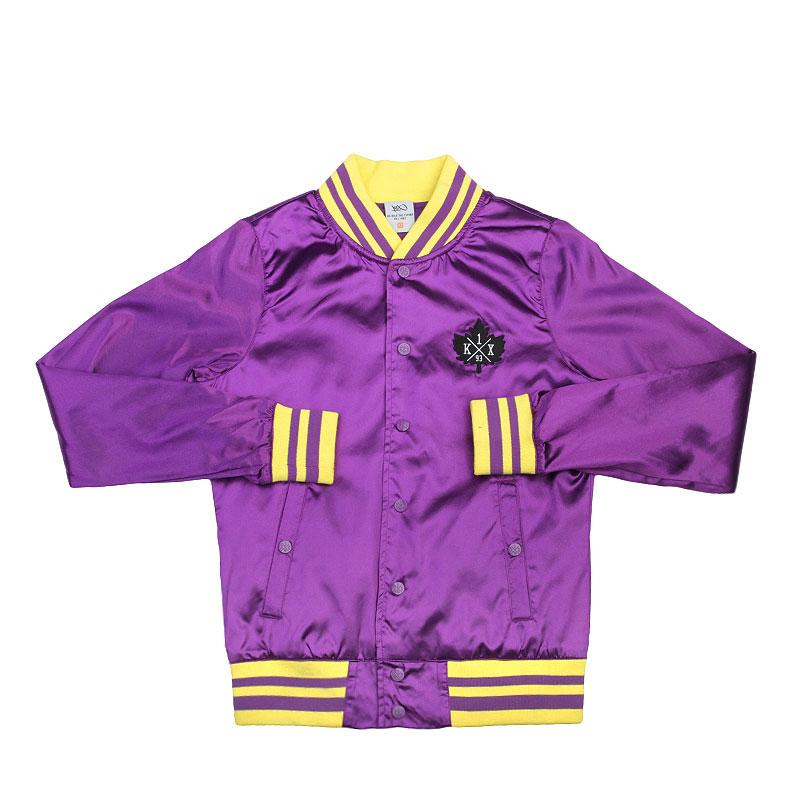 Куртка K1x wmns Satin Varsity JacketКуртки, пуховики<br>Полиамид, хлопок<br><br>Цвет: Фиолетовый, жёлтый<br>Размеры US: M<br>Пол: Женский