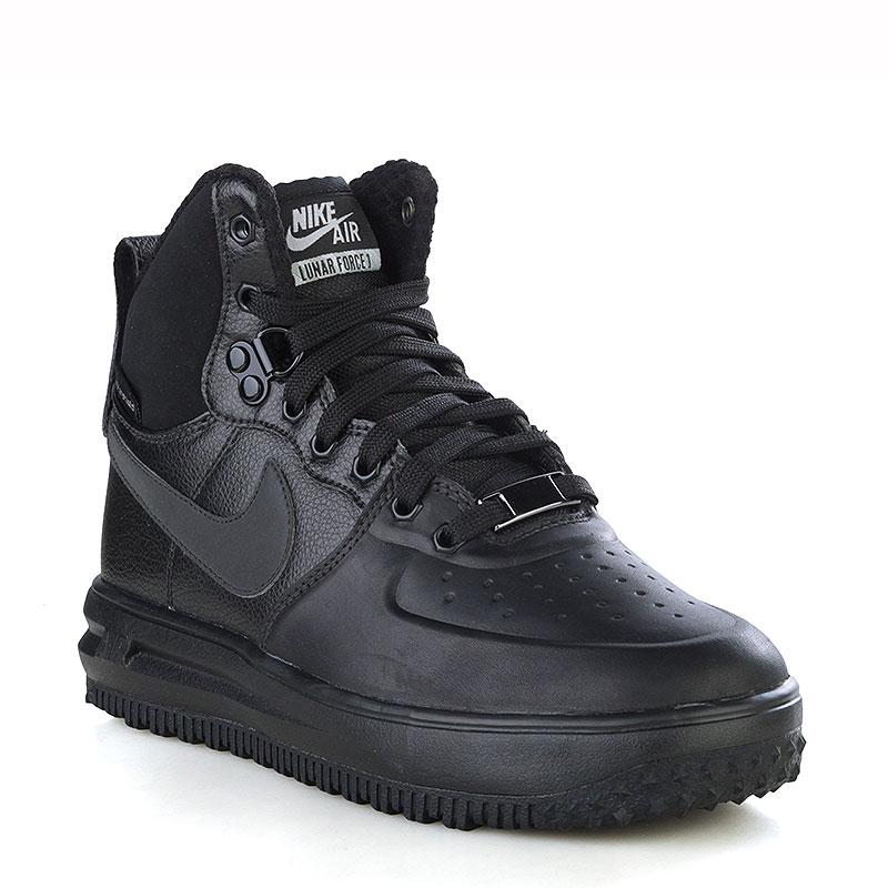 Ботинки Nike sportswear Lunar Force 1 Sneakerboot GSОбувь детская<br>Кожа, синтетика, текстиль, резина<br><br>Цвет: Черный<br>Размеры US: 6.5Y