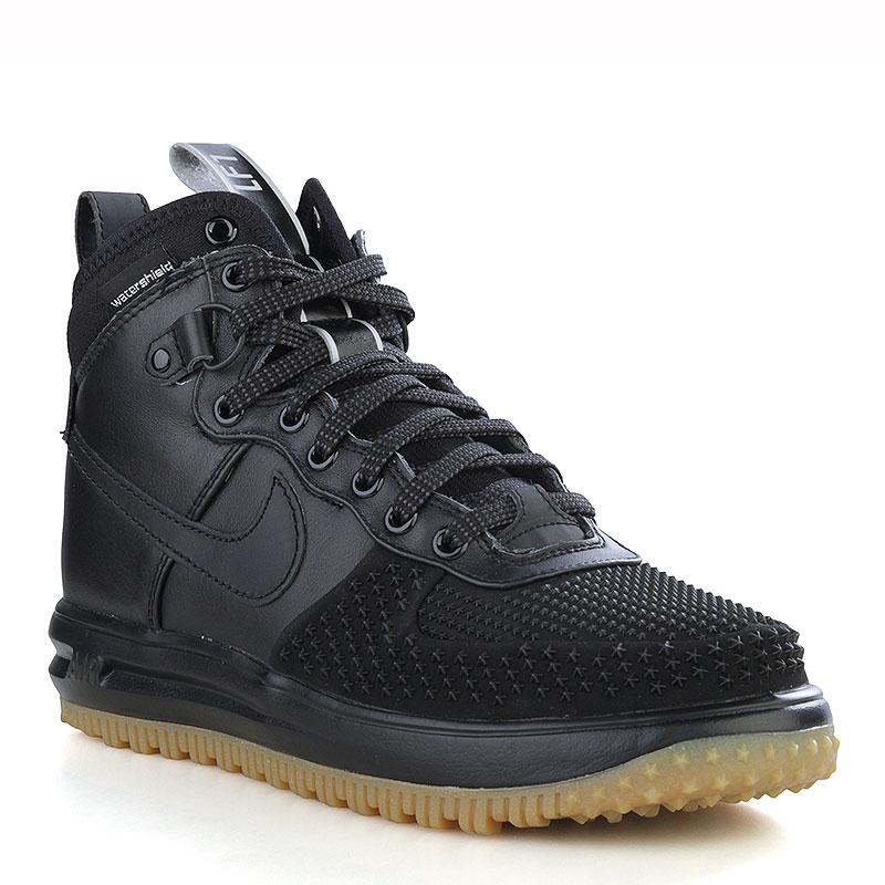 Ботинки Nike Sportswear Lunar Force 1 DuckbootБотинки<br>Кожа, синтетика, текстиль, резина<br><br>Цвет: Черный, коричневый<br>Размеры US: 8;10.5;11<br>Пол: Мужской