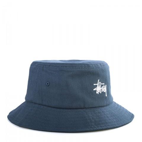 Купить мужскую синюю  панама stussy smooth herringbone bucket hat в магазинах Streetball - изображение 1 картинки
