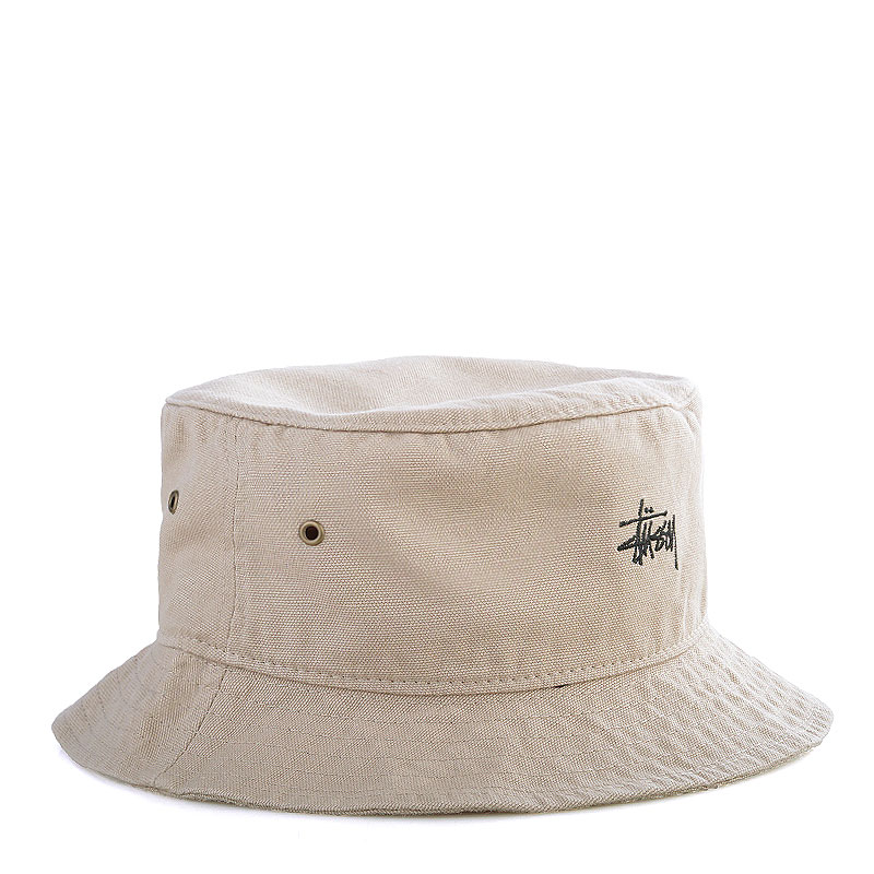 Купить мужскую хаки  панама stussy smooth crusher bucket hat в магазинах Streetball изображение - 1 картинки
