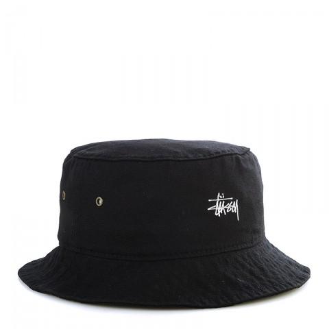 Купить мужскую черную  панама stussy smooth crusher bucket hat в магазинах Streetball - изображение 1 картинки