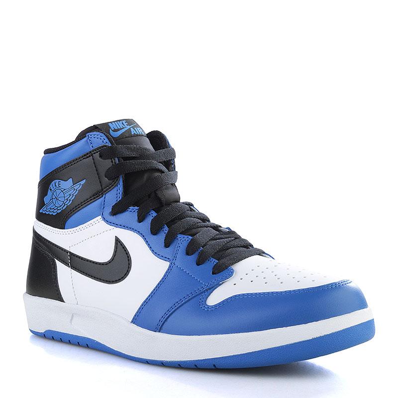 Кроссовки Air Jordan 1.5Кроссовки lifestyle<br>Кожа, текстиль, резина<br><br>Цвет: Синий, белый, черный<br>Размеры US: 12.5;13;15<br>Пол: Мужской