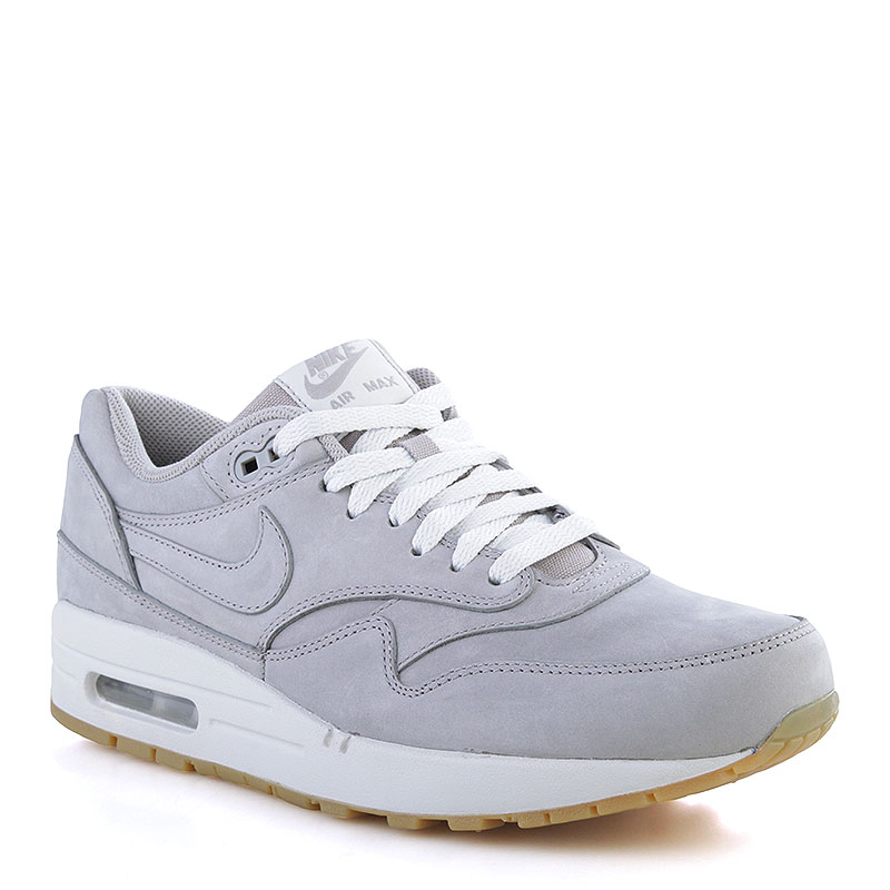 Кроссовки Nike Sportswear Air Max 1 LTКR PremiumКроссовки lifestyle<br>Кожа, текстиль, резина<br><br>Цвет: Серый<br>Размеры US: 9.5<br>Пол: Мужской