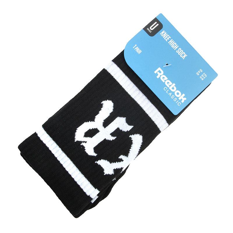 Носки Reebok Classic BXR Knee SocksНоски<br>Хлопок, нейлон, полиэстер, эластан<br><br>Цвет: Черный, белый<br>Размеры US: 9-11<br>Пол: Мужской