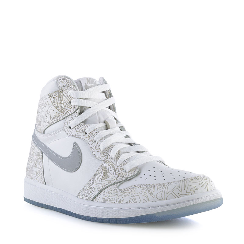 Кроссовки Air Jordan 1 Retro High OG LaserКроссовки lifestyle<br>Кожа, текстиль, резина<br><br>Цвет: Белый<br>Размеры US: 15<br>Пол: Мужской