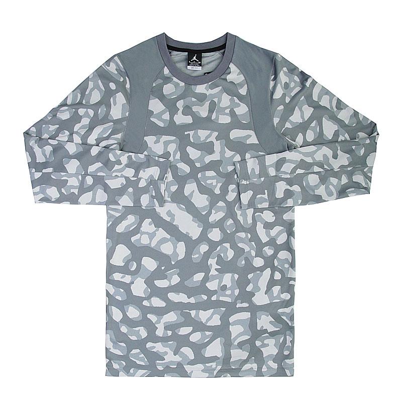 Футболка Jordan L/S TopКомпрессионное белье<br>Полиэстер<br><br>Цвет: Серый<br>Размеры US: S;2XL<br>Пол: Мужской