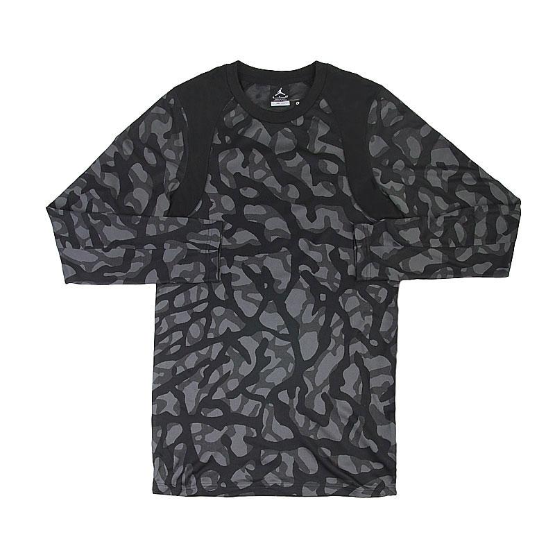 Купить мужскую черную, серую  футболка jordan l/s top в магазинах Streetball изображение - 1 картинки