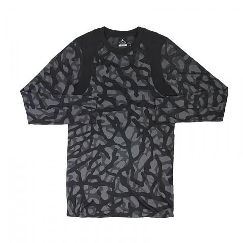 Купить мужскую черную, серую  футболка jordan l/s top в магазинах Streetball - изображение 1 картинки
