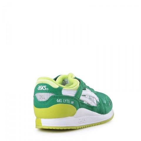 детские зеленые  кроссовки asics tiger gel-lyte iii C5A5N-8401 - цена, описание, фото 2